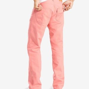 Levi's Jeans - NWT MENS LEVIS STRAUSS 501 DENIM PINK JEANS 32x32